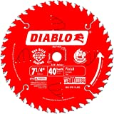 Freud D0740X Diablo 7-1/4 40 Tooth ATB Finishing Saw Blade with 5/8-Inch Arbor, Diamond Knockout, and PermaShield Coating