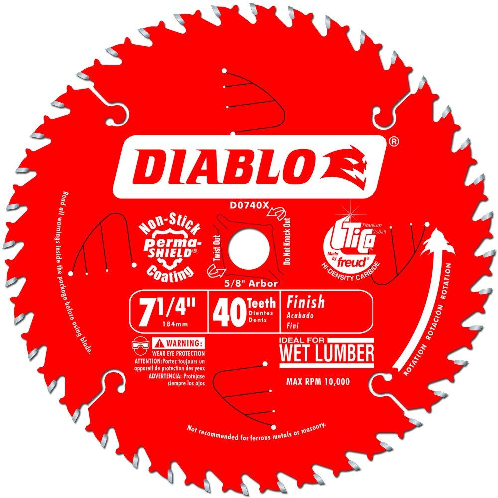 Hoja Sierra Diablo por Freud D0740X Ø184mm - 40 Dientes - eje 16mm para Acabado