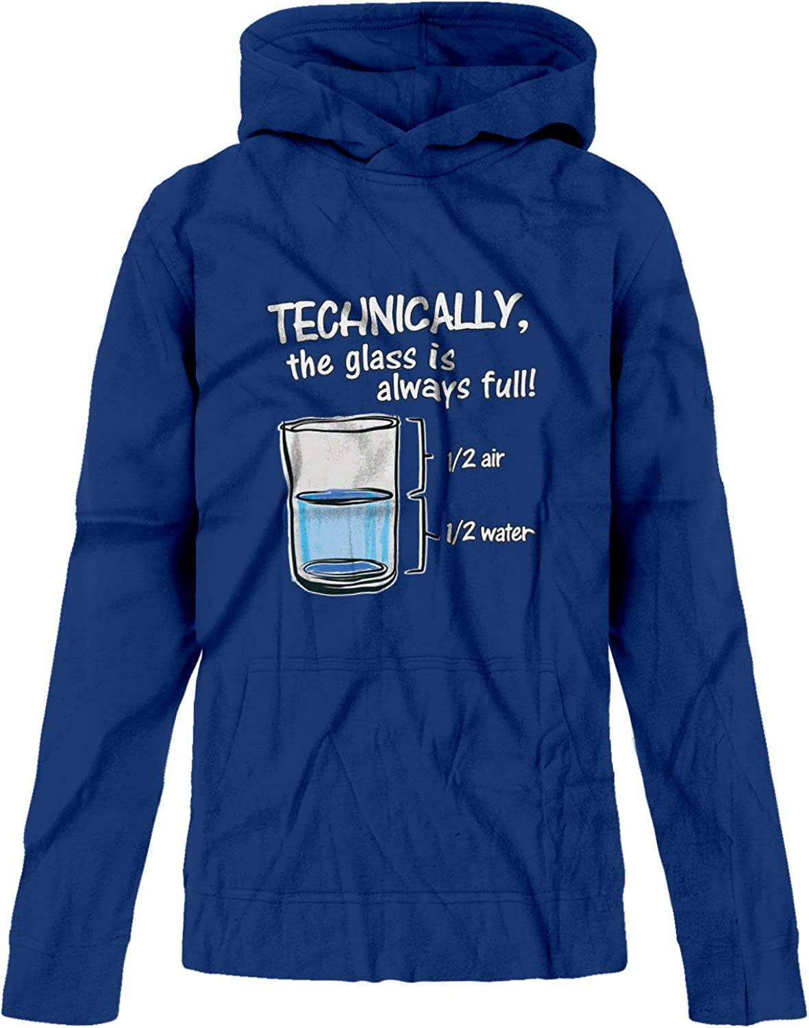 BSW Youth Girls Technically The Glass is Always Full Premium Hoodie