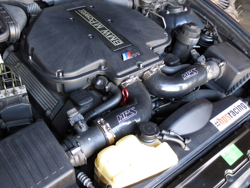HPS 57-1291-BLK Black Silicone Air Intake Hose Post MAF Tube