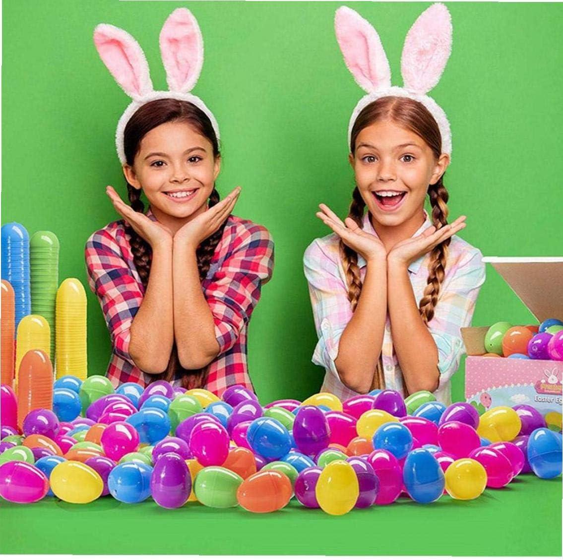 LAANCOO Huevos de Pascua de pl/ástico rellenables sorpresa surtido de juguetes para ni/ños de Pascua tem/ática de fiesta de recuerdo de 12 piezas regalos de chocolate
