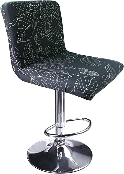 MOCAA Stretch Slipcover Chair Protectors for Short Back Chair Bar Stool Chair,ONLY Chair Covers (Color 5)