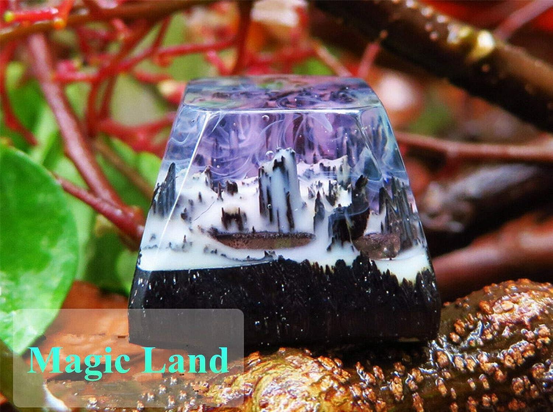Snowberg Handmade Natural Scenery Wood /& Resin Artisan Keycap SA Micro Landscape Key Cap for Cherry MX Mechanical Keyboard Gaming
