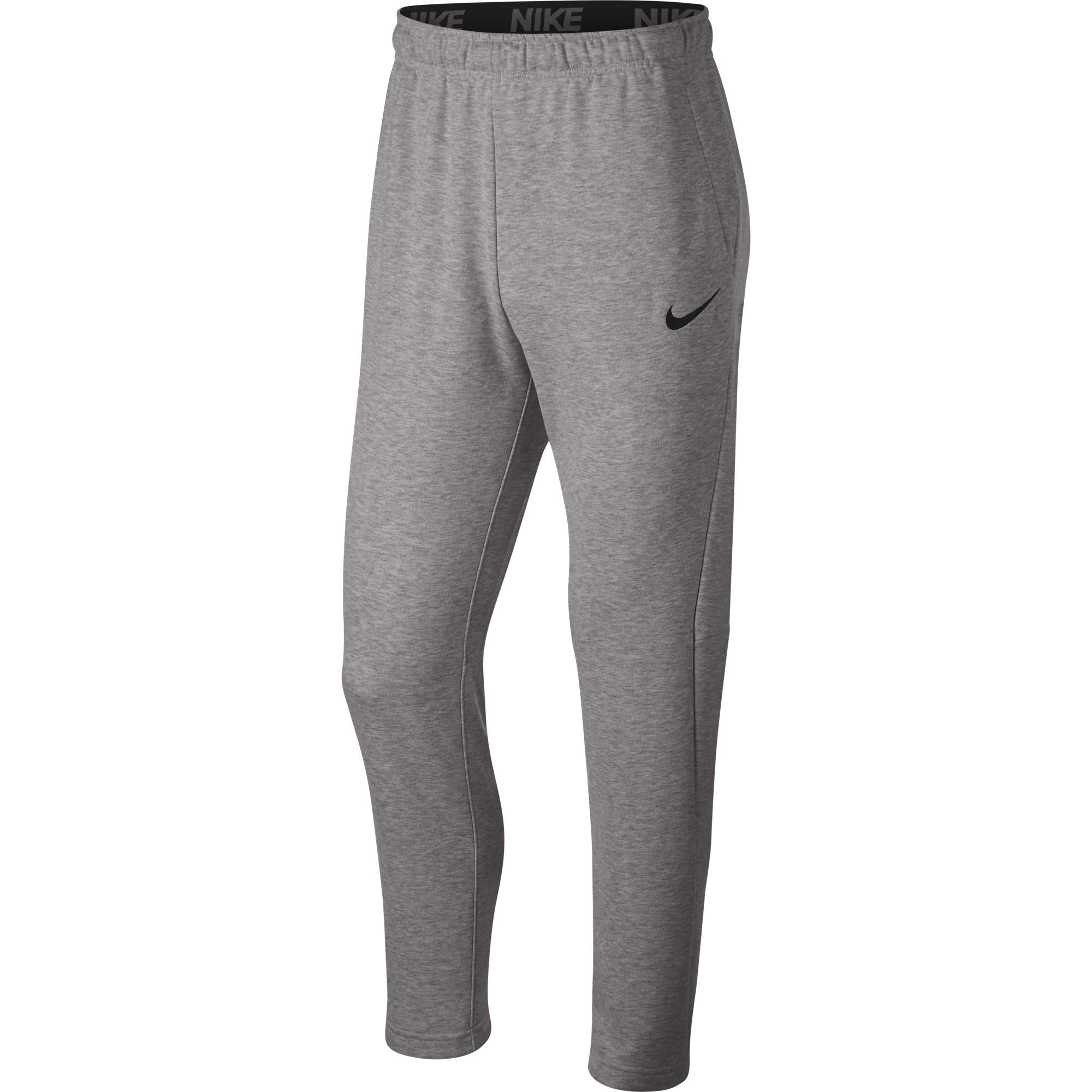 Nike Men's Dry Fleece Training Pants, Dark Grey Heather/Black, XXX-Large by Nike