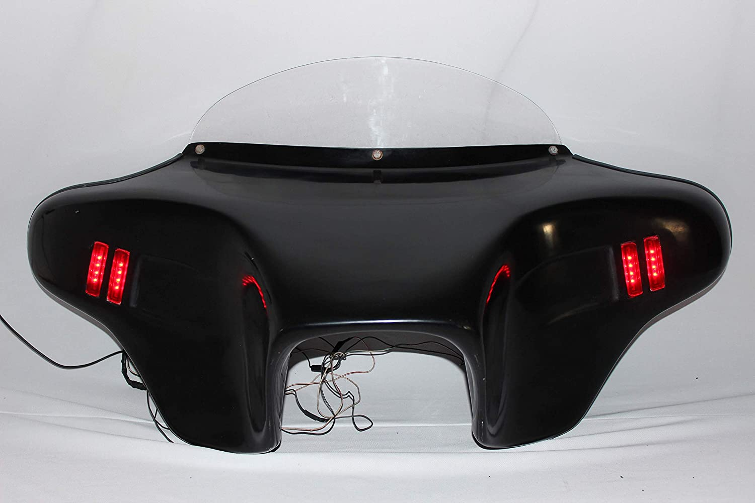 BAT F18 F12-2 GC Cover+MECA Trong Harley Batwing Fairing Windshield 4 SOFTAIL Fat BOY Heritage Deluxe Custom Slim