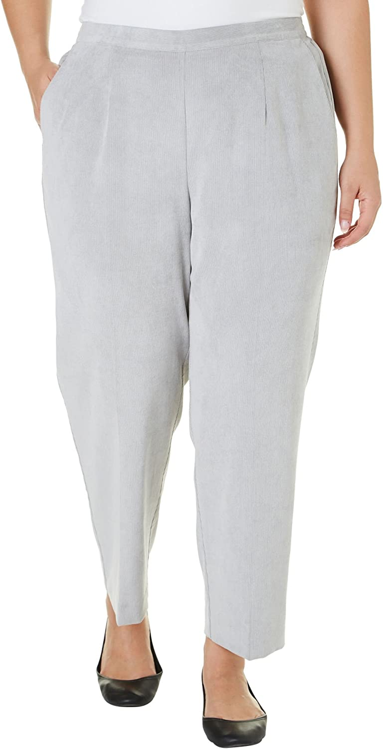 Alfred Dunner Women's Alpine Lodge Solid Pants