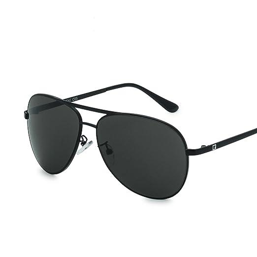 30b2625ccf FENCHI Sunglasses Men New Fashion Metal Sunglasses Women Drive (Shiny  Blake+Blackish Green)
