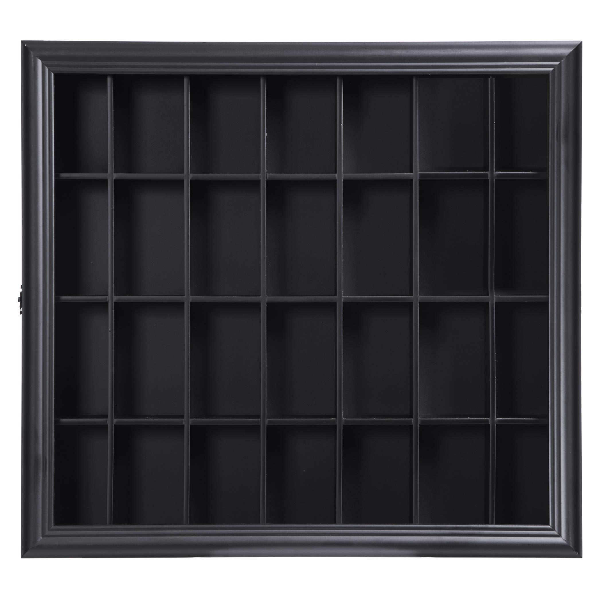 Gallery Solutions 18x16 Shot Glass Display Case with Hinged Front in Black by Gallery Solutions (Image #3)