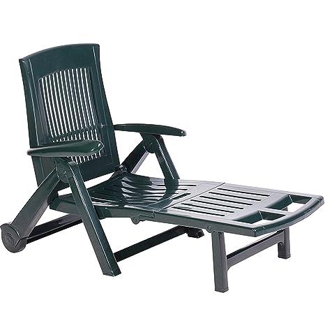 Sdraio In Plastica Verde.Mojawo Xl Sedia A Sdraio Con Alto Comfort Di Seduta Sedia