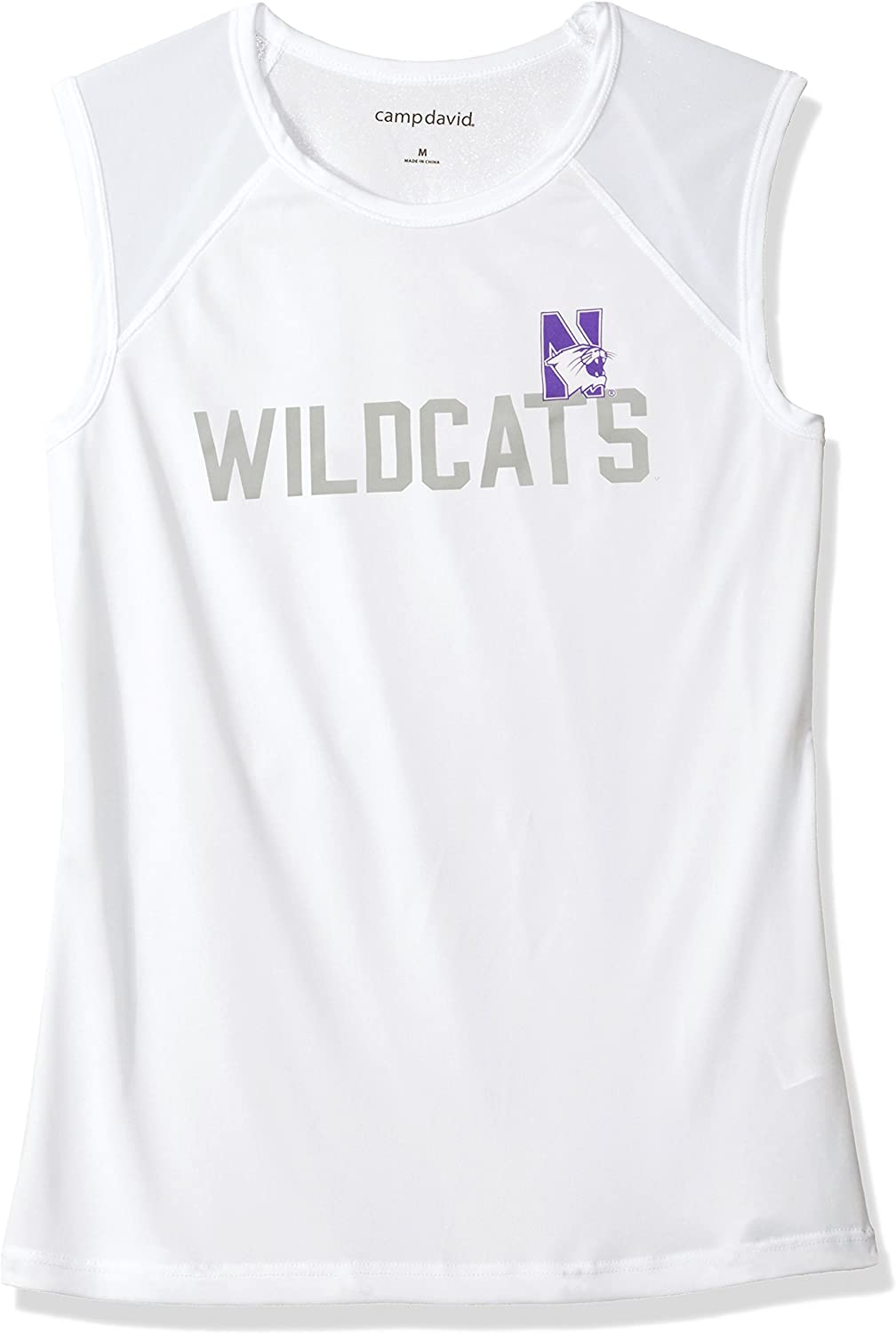 NCAA Breeze Womens Sleeveless Mesh Panel Tee