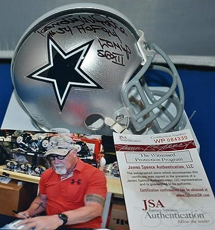 da5f9c07 Randy White Autographed Signed Memorabilia Custom Face Mask Mini Helmet Dallas  Cowboys HOF 94 Sb Mvp