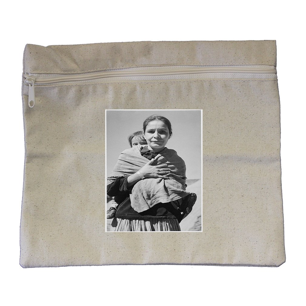 Dinee Woman Child Canyon Chelle (Adams) Canvas Zippered Pouch Makeup Bag