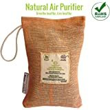 Oxypure Natural Air Purifying Bag,100% Activated Charcoal, Dehumidifier Removes Odour, Allergens and Pollutants from Shoe Rack, Wardrobe, Refrigerator - 100 gm