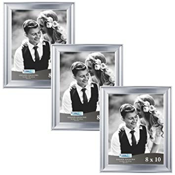 Amazon.com - Icona Bay 8x10 Picture Frame (3 Pack, Silver), Silver ...