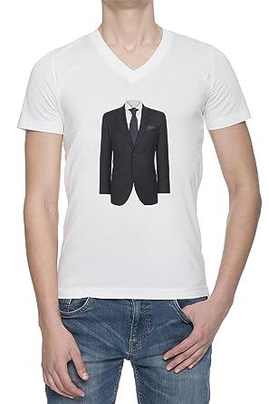 Traje con lazo y camisa Gracioso V Cuello Camiseta Para Hombre ...