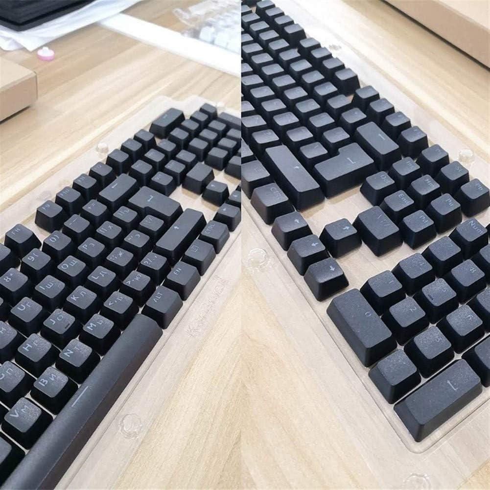 Color : Black Man-hj Keyboard keycaps 104 Keycaps Translucent Backlight Keycaps for MX Keyboard Switch