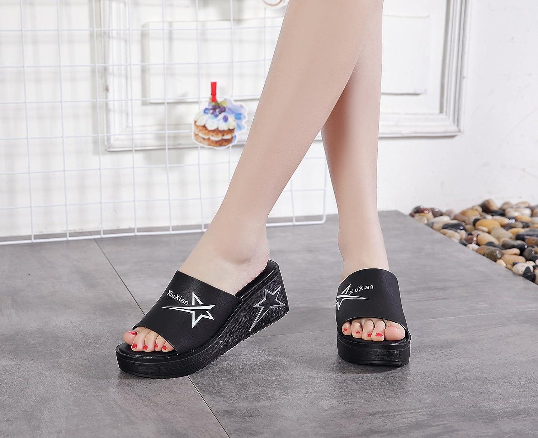 a4da02fa0 KPHY Zapatos De Mujer Sandalias Primavera Y Verano Tacones Altos Tacones De  Pendiente De Fondo Grueso