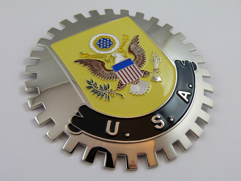 Amazon.com: Insignia de rejilla de Estados Unidos con escudo ...
