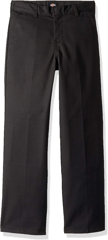 Dickies Boys' Flexwaist Flat Front Straight Leg Pant: Clothing
