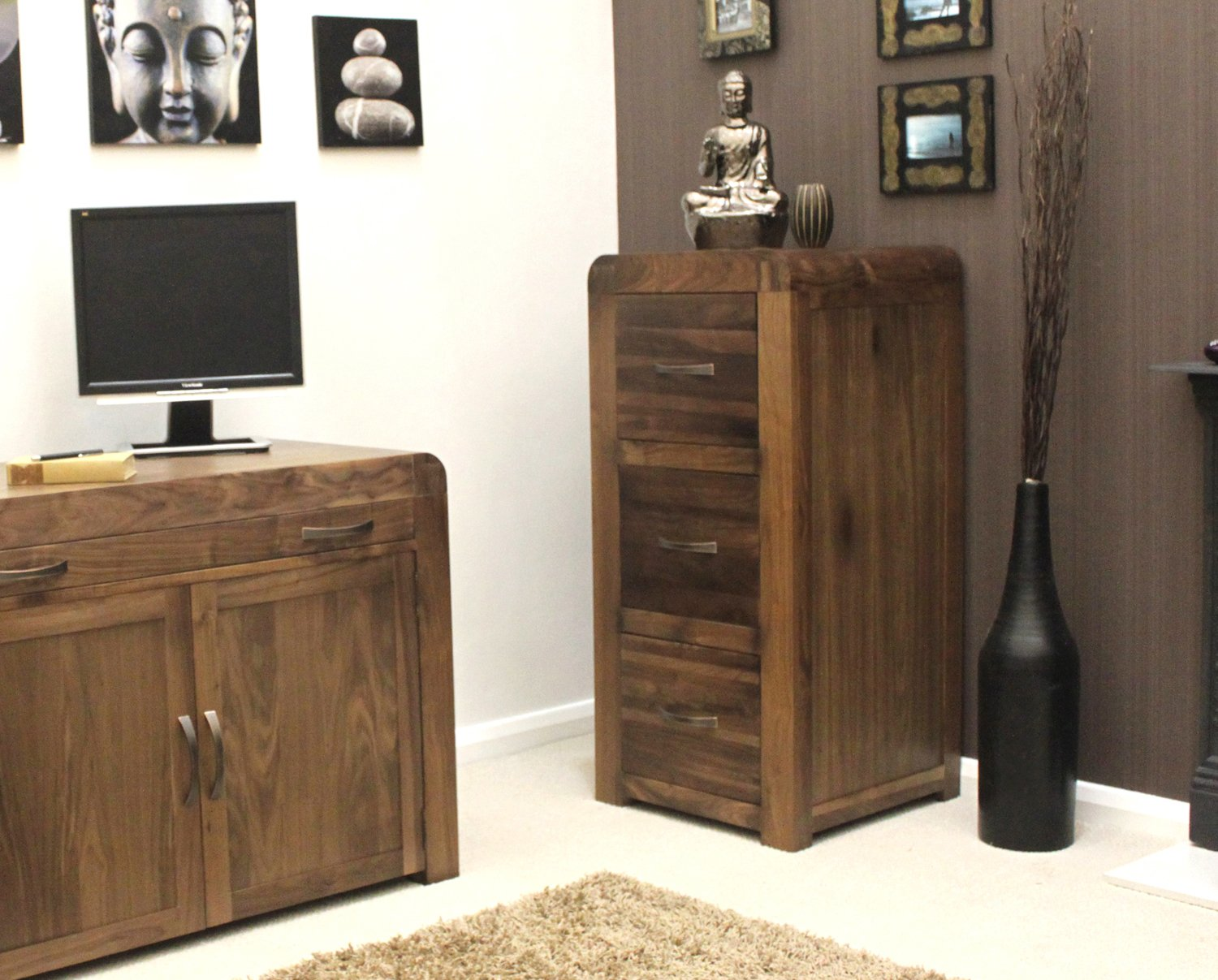 strathmore solid walnut furniture shoe cupboard cabinet. baumhaus shiro walnut 3 drawer filing cabinet amazoncouk kitchen u0026 home strathmore solid furniture shoe cupboard