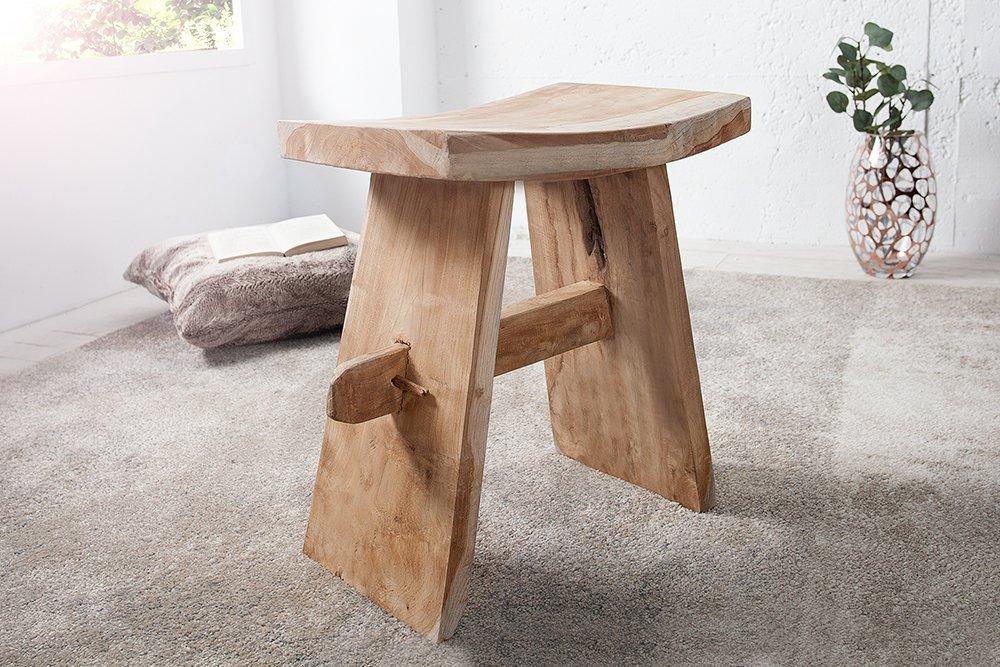 Consolle zen xl di cipì in legno teak recuperato