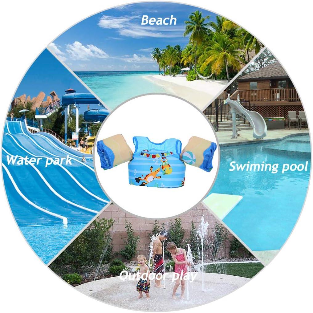 Zeraty Jungen M/ädchen Schwimmweste Schwimmfl/ügel f/ür Kinder Kleinkinder von 2-6 Jahren 14-25kg,Schwimmende Badeanzug lernt Schwimmen