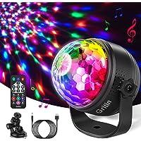 Discobal LED Party Lamp, Gritin discolicht kinderen muziekgestuurd disco lichteffecten met 15 kleuren RGBP, 360 graden…
