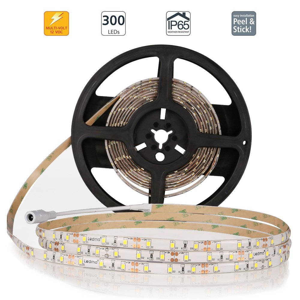 Ledmo Flexible Led Strip Lights Dc 12v Light 12 Volt Wiring Diagram Free Picture Waterproof Cool White 6000k 164ft Garden Outdoor