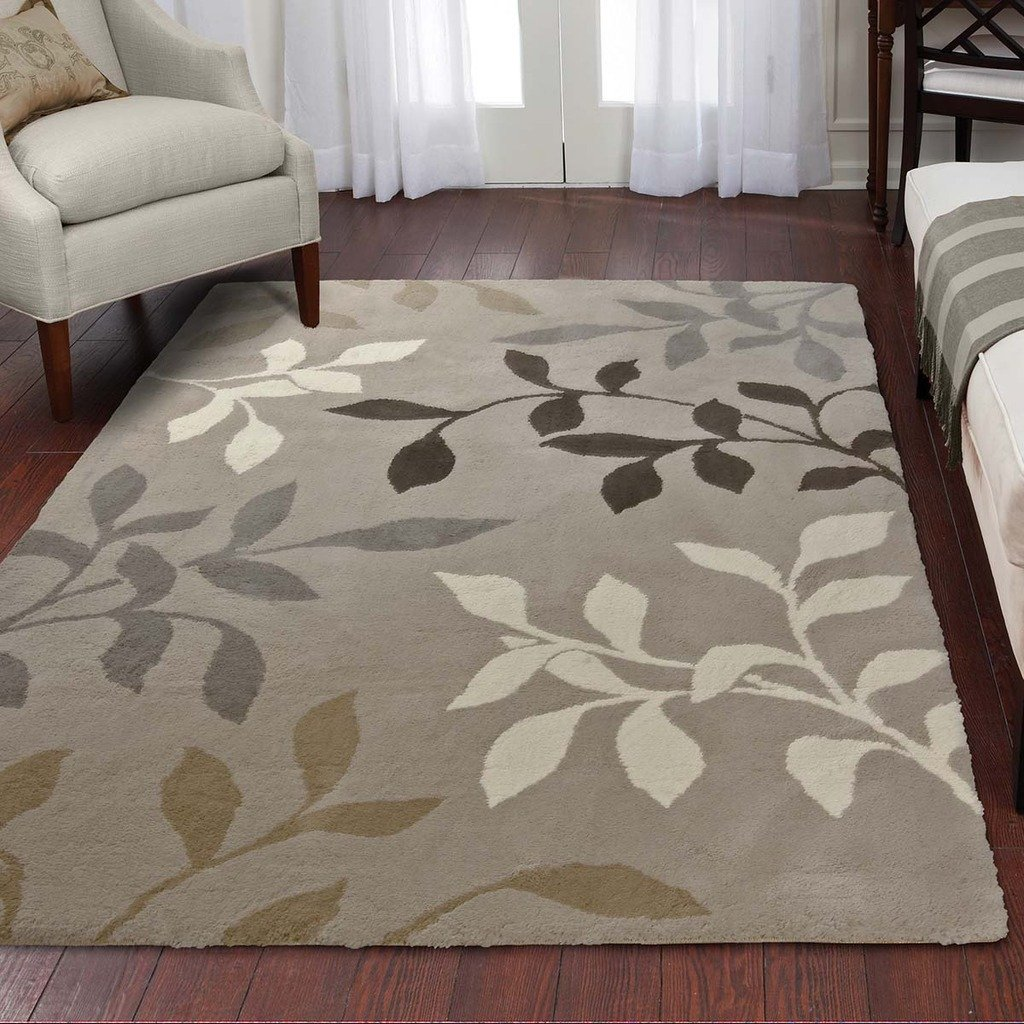 Orian Rugs Plush Leaves Melrose Ivory Runner Rug (1'11 x 7'5) 322453