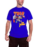 Officially Licensed Merchandise Marvel Comics The Mighty Thor - For Asgard! T-Shirt (Navy)