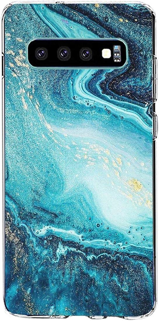 kkkie kompatibel mit Galaxy S10 H/ülle Transparent Silikon Case f/ür Galaxy S10 plus Schutzh/ülle Marmor Motiv Blumen Christmas Weihnachten HandyH/ülle f/ür Galaxy S10e