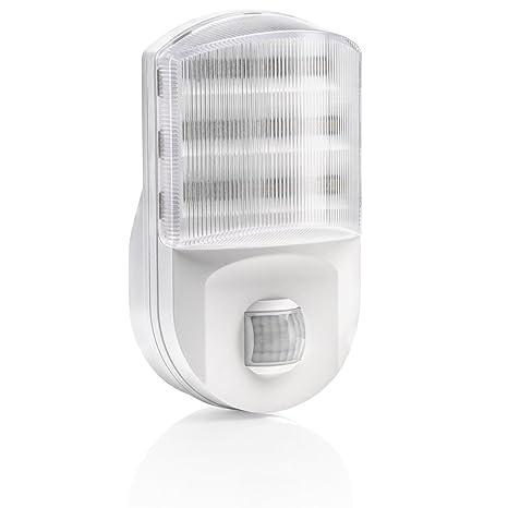 Auraglow – Euro conector superhelles LED de luz nocturna/luz de seguridad con sensor PIR