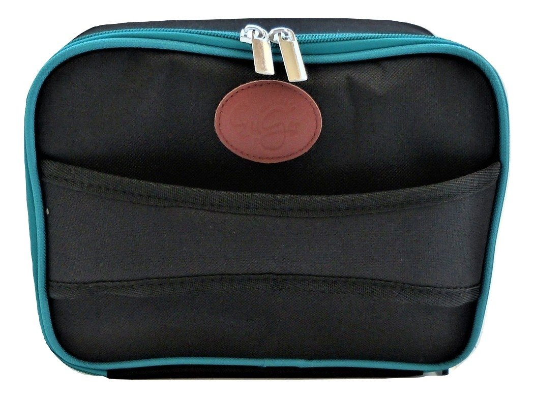 Diabetes Supplies Travel Bag and Organizer - Classic Black & Teal