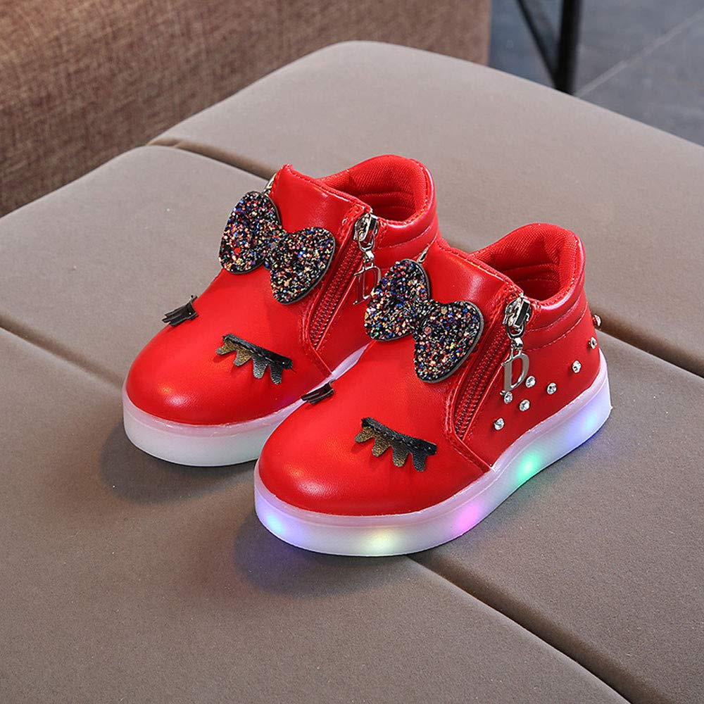 8646ad44cbb37 Amazon.com: WARMSHOP LED Light Up Shoes Girls Boys 1-6T Flashing ...
