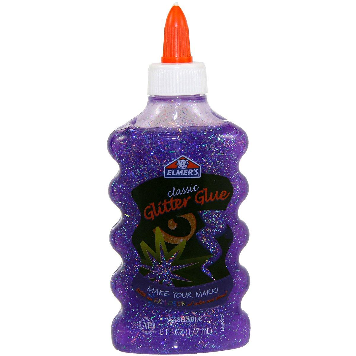 Elmer's Liquid Glitter Glue, Washable, Purple, 6 Ounces, 1 Count - Great For Making Slime
