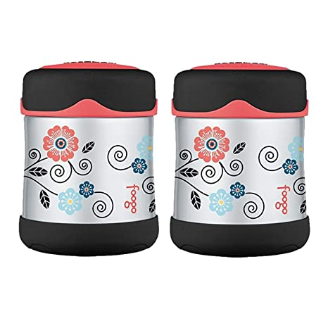 c37fe1e923d9 THERMOS FOOGO Vacuum Insulated Stainless Steel 10oz Food Jar 2PK - Poppy  Patch