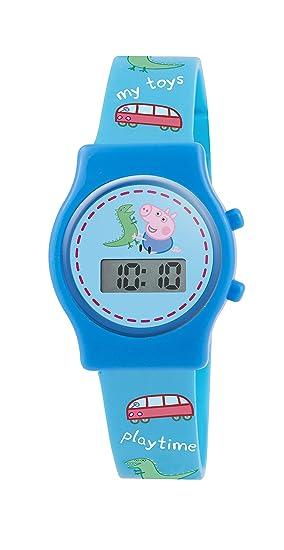 Peppa Pig PP010 - Reloj de pulsera niño, silicona, color azul: Amazon.es: Relojes