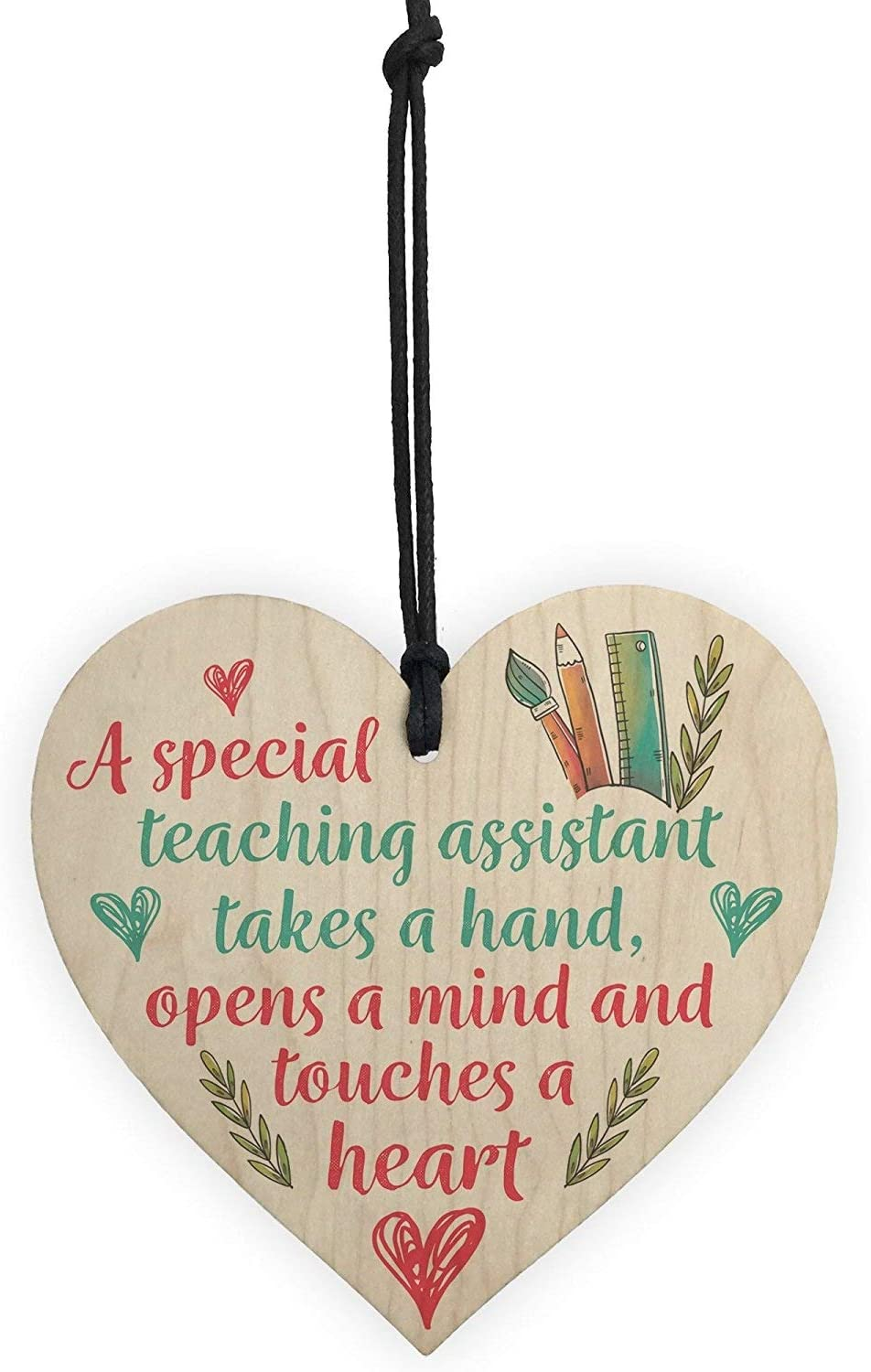 A nursery teacher takes hand opens a mind touches a heart Thank you plaque sign