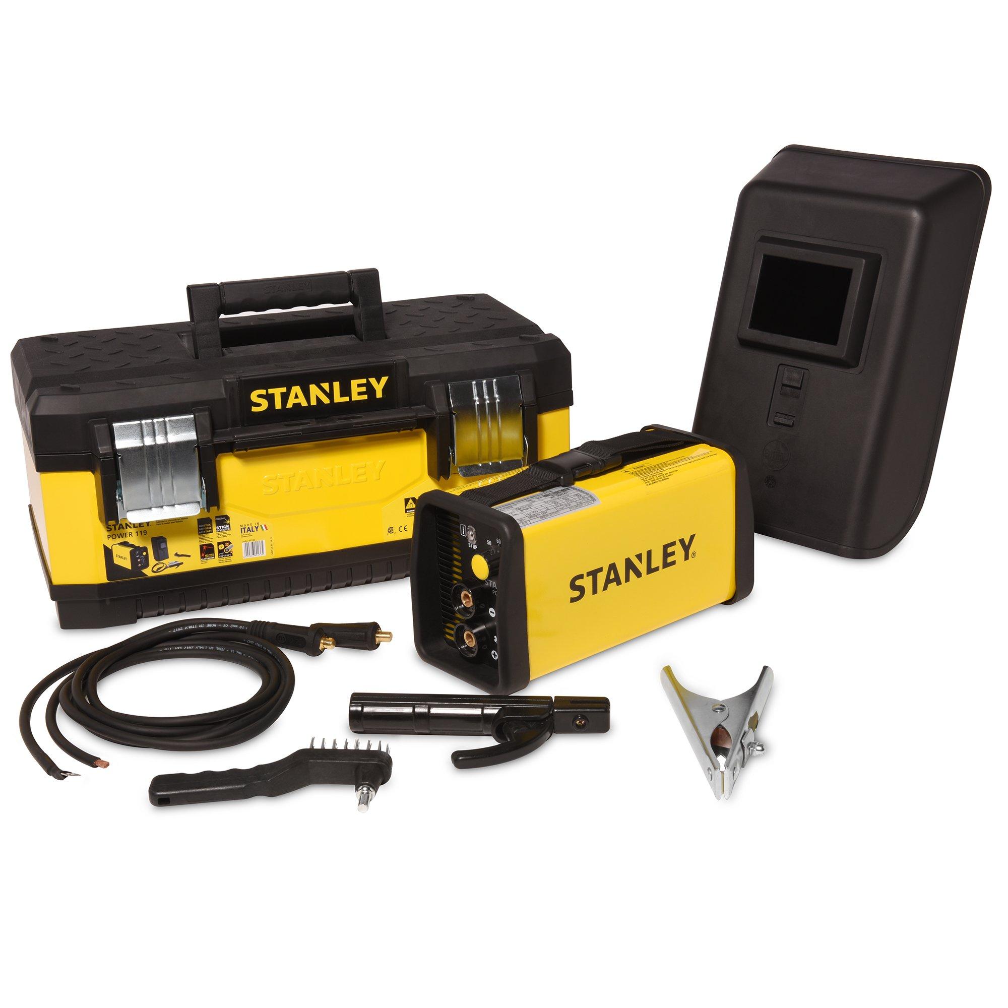 "Stanley Power 119 Inverter Stick Welder – Ultra Compact 120-Volt, 80-Amp Welding Machine for Mild and Stainless Steel – 13.7"" x 4.9"" x 6.1"""