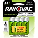 Rayovac 8 Count Rechargeable AA Batteries