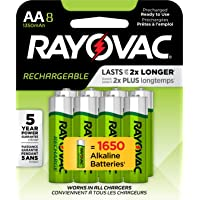 8-Pack Rayovac Rechargeable AA Batteries