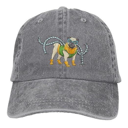 fbd89ee7603 Image Unavailable. Image not available for. Color  Vintage Cotton Denim Cap  Baseball Hat Pug ...