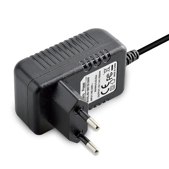 Adaptador de alimentación de repuesto de Aukru de 12 V, cable cargador para sintetizador Yamaha MOX6 MOX8, teclado midi electrónico digital PSR-270, piano, ...