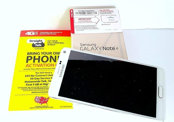 Samsung Galaxy Note 4 Straight Talk , runs on Verizon's 4G XLTE network via  Straight Talk's $45 Unlimited plan  Phone is pre-registered & sim card is