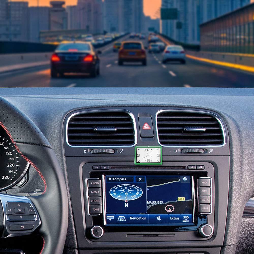 Horloge de tableau de bord de voiture Horloge dint/érieur de voiture Horloge de voiture auto-adh/ésive /à piles 1cm * 5cm // 2.* 0.4 FORNORM Horloge d/évent de voiture Rouge