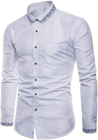 Camisas Casual Hombre Manga Larga, Covermason Trajes Oxford Formales Casuales para Hombres Slim Fit Top: Amazon.es: Ropa y accesorios