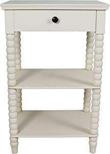 Decor Therapy Spindle Side Table, 19x14x30, Antique White