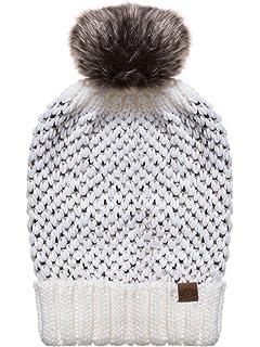Bonnet à Pompon Enfant Stan gris-orange ANIMAL - Taille Enfant ... 46e4327b09d