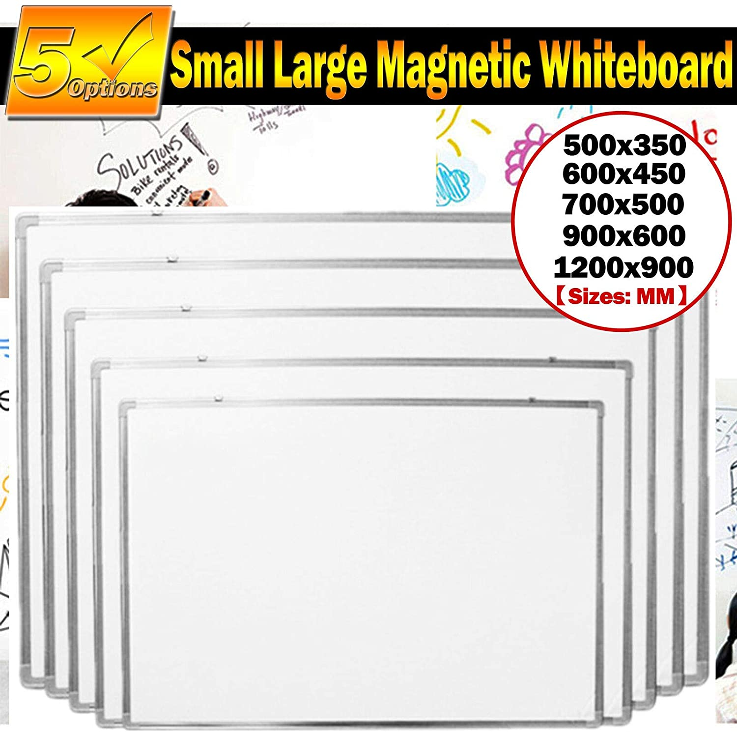 Magnetic Whiteboard Dry Wipe Small Large White Board Office Home School Notice