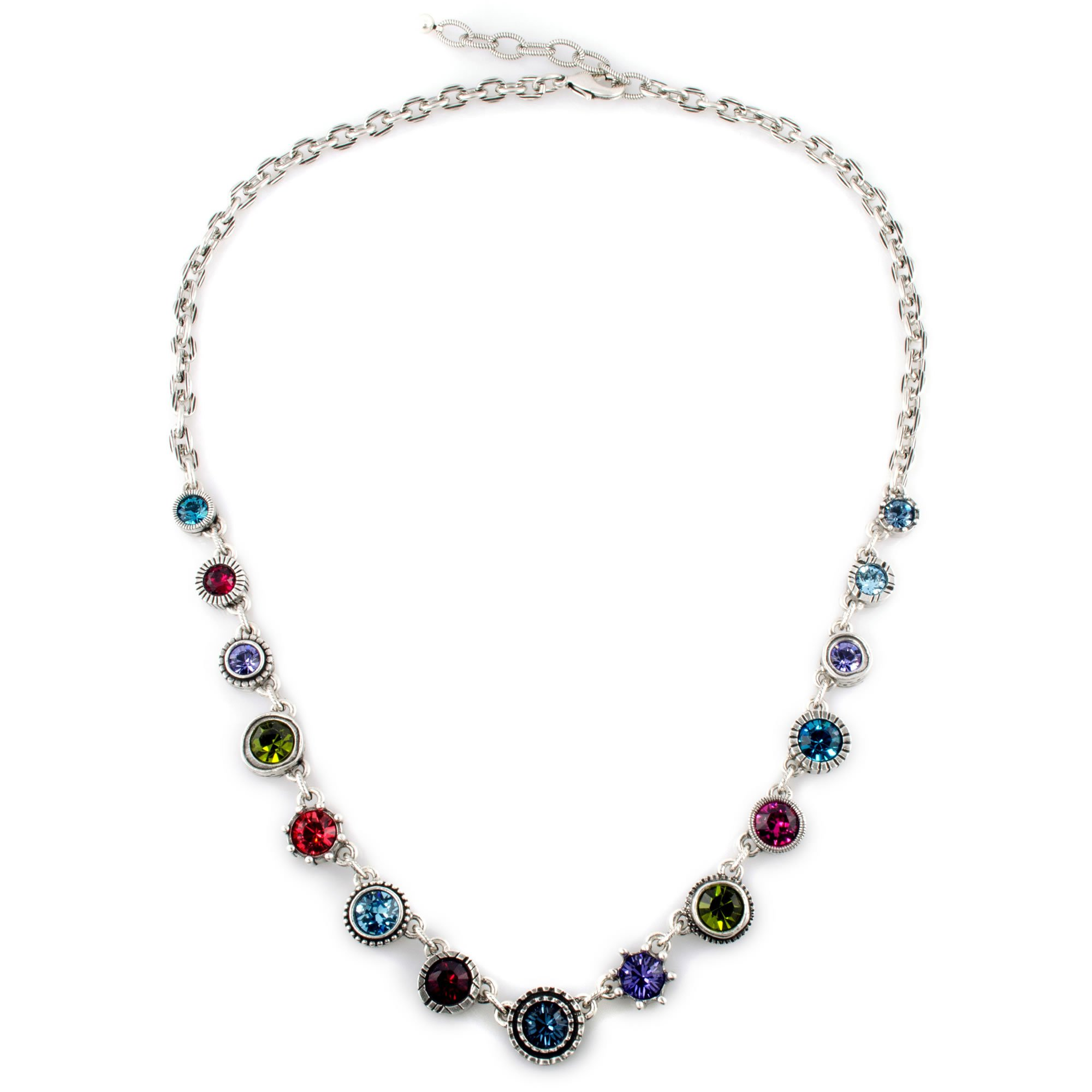 Patricia Locke Get a Round To It Necklace in Silver, Celebration Color Story